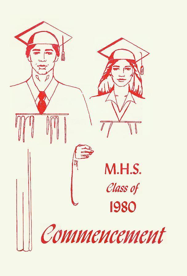 M.H.S. Class of 1980 Commencement Program Cover